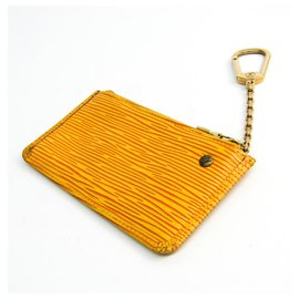 Louis Vuitton-Louis Vuitton Yellow Epi Coin Purse-Yellow