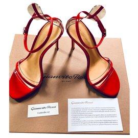 Gianvito Rossi-G string vernice Tabasco Red-Red