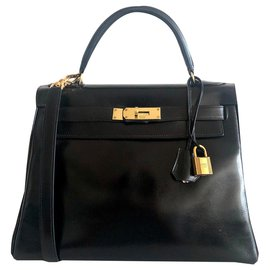Hermès-hermes kelly 28 Black Box-Black