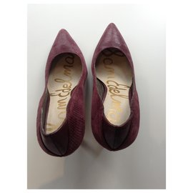 Sam Edelman-Reptile Print Suede Shoes-Other