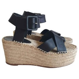 Céline-Sandals-Black,Beige