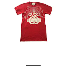 Gucci-Gucci T-shirt avec strass neuf-Rouge