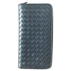 Bottega Veneta-BOTTEGA VENETA NEW MEN'S CLASSIC BIG WALLET-Dark blue