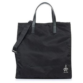 Prada-Prada new unisex tote bag-Black