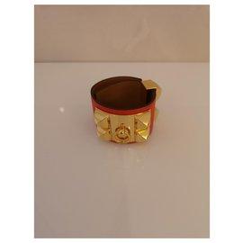 Hermès-Hermès dog collar bracelet-Orange,Coral