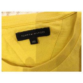 Tommy Hilfiger-T-shirt pour les garçons-Jaune