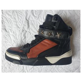 Givenchy-Givenchy Tyson High top Sneakers-Black,White,Dark brown