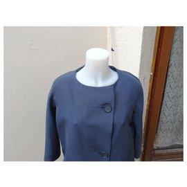Balenciaga-Manteaux, Vêtements d'extérieur-Bleu