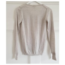 Chloé-Fine wool knit jumper in pale grey-Grey