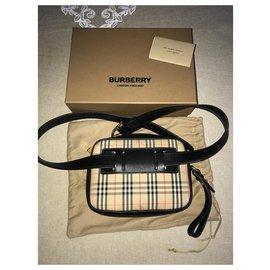 Burberry-Handbags-Black,Beige