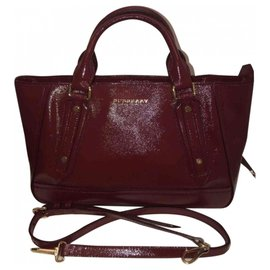 Burberry-Handbags-Dark red