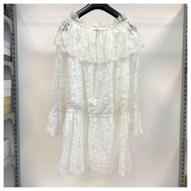 Ermanno Scervino-White lace dress-White