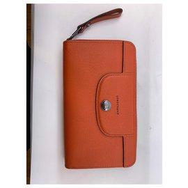 Longchamp-Longchamp wallet-Orange