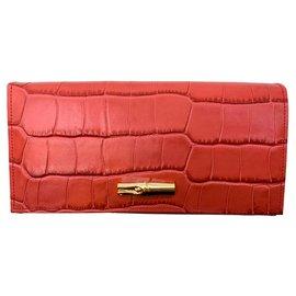Longchamp-Roseau Wallet-Pink