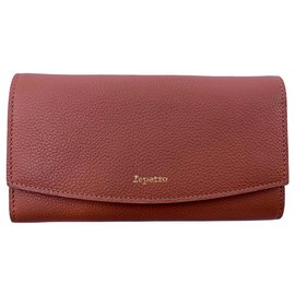 Repetto-Repetto wallet with flap-Peach