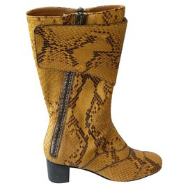 Chloé-Lexie boot Chloé yellow in python-Python print,Yellow
