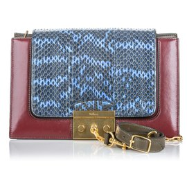 Mulberry-Mulberry Red Python Pembroke Shoulder Bag-Red,Blue