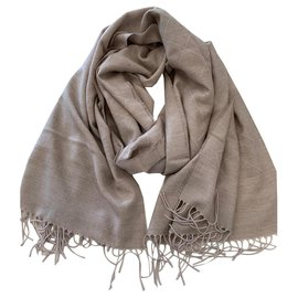 Chanel-Cashmere stole CHANEL-Beige