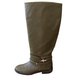 Balenciaga-Paire de botte cavalière Balenciaga neuve-Kaki