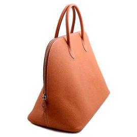 Hermès-Hermès sac Bolide 45 de voyage en cuir de veau taurillon cognac-Cognac