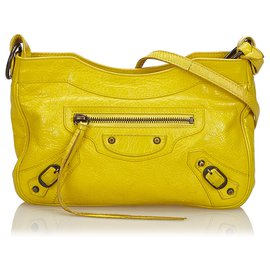 Balenciaga-Balenciaga Yellow Classic Hip Crossbody Bag-Yellow