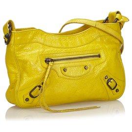 Balenciaga-Balenciaga Sac à bandoulière classique jaune-Jaune