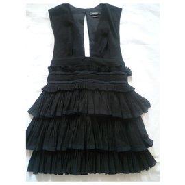 Isabel Marant-black dress with ruffles-Black
