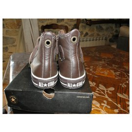 Converse-Converse CHuck Taylor 36 en cuir marron-Marron foncé