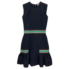 Christopher Kane-Stretch viscose cocktail dress-Dark blue