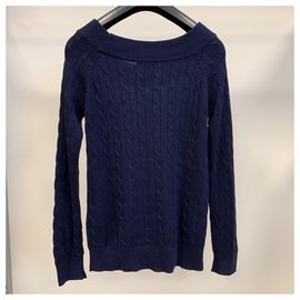 Ralph Lauren-Lauren - Ralph Lauren Navy blu knitted sweater-Navy blue