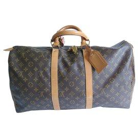 Louis Vuitton-keepall 50-Marron clair