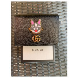 Gucci-gucci business card holder-Black