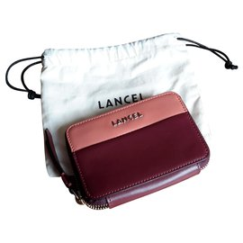 Lancel-Model Lettrines-Dark red