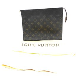 Louis Vuitton-POCHE TOILETTE 26 MONOGRAM-Marron