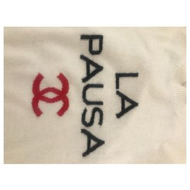 Chanel-2019 La Pausa Cashmere Sweater-White