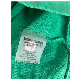 Zadig & Voltaire-Sweat vert Zadig-Vert