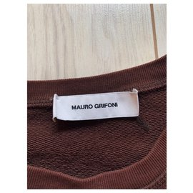 Mauro Grifoni-Sweaters-Brown,White