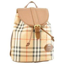Burberry-Burberry Nova Check Backpack-Brown