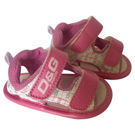 D&G-Kids Sandals-Pink,White,Grey
