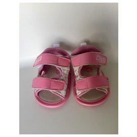 D&G-Kids Sandals-Pink,White,Grey