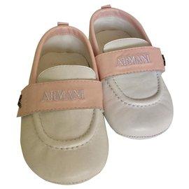 Armani-Ballet flats-Pink,White
