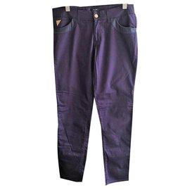 Versace-Pantalon violet femme Versace-Violet