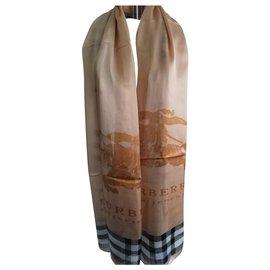 Burberry-Burberry silk scarf-Beige