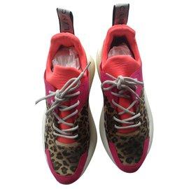 Stella Mc Cartney-Eclypse Baskets Imprimées Multicolores Leopard-Multicolore,Imprimé léopard
