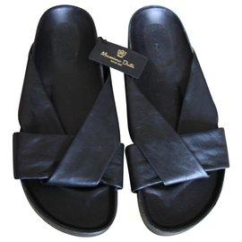 Massimo Dutti-Sandals-Black