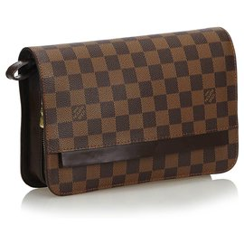 Louis Vuitton-Louis Vuitton Pochette Saint Louis Louis Damier Ebène-Marron