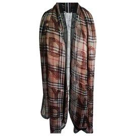 Burberry-Burberry London silk scarf-Beige