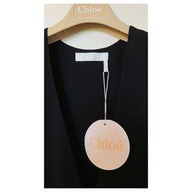 Chloé-Chloé silk top-Black