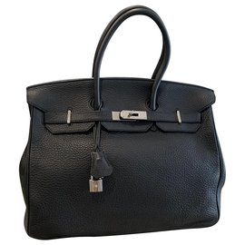 Hermès-Handbags-Black