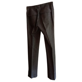 Zara-Pantalons, leggings-Gris anthracite